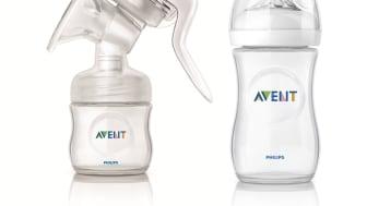 Nye Philips AVENT Natural Comfort brystpumpe og Natural tåteflaske