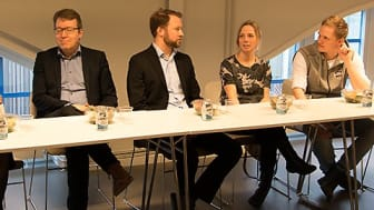 Sara Winqvist, CGI, Clarence Jakobson, ORYX, Rickard Lönnerbord, Codemill, Eva Lund, Sogeti, och Pär Vidmark, TeamNorr IT-Partner.
