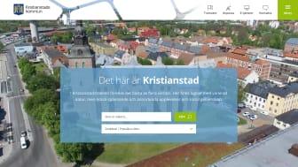 Sökfunktionen på startsidan gör det enkelt att hitta på Kristianstads nya webbplats, www.kristianstad.se.