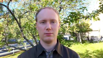 Dan Adolfsson, doktorand på Kemiska institutionen vid Umeå universitet. Foto: Åke Adolfsson