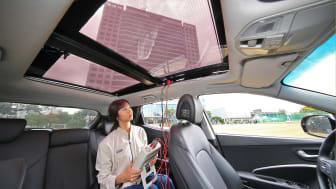 Elektrisk genererende solpaneler i bilens tag skal producere strøm til KIA & Hyundais fremtidige bilmodeller