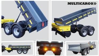 Multicargo Multifunktionsvagn MT-STEEL12 Dumpervagn/Spridare