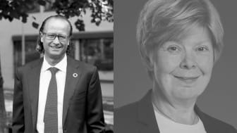 Jan Erik Saugestad, vd Storebrand Asset Management och Marita Loft, vd Storebrand Fastigheter