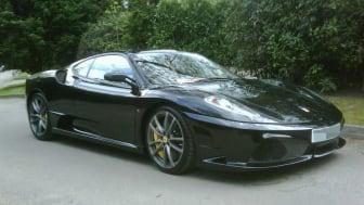 Sarju Popat traded in luxury cars, like the Ferrari F430 Scuderia pictured