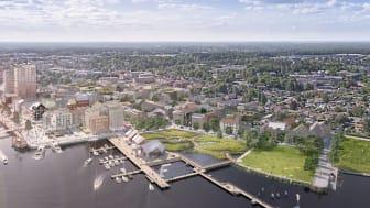 Visionsbild över Norrtälje hamn