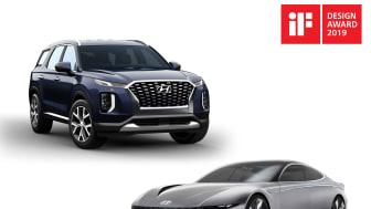 Hyundai-vinnerne i iF Design Award 2019. Foto: Hyundai