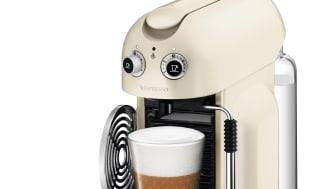 Maestria Krämvit med latte och förpackning