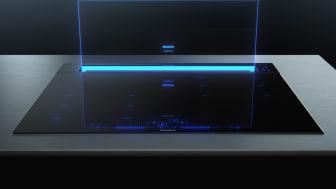 Designen tar täten. Den nya köksfläkten glassdraftAir från Siemens kombinerar överlägsen prestanda och elegant design för kök med öppen planlösning