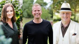 Neurodesignern Isabelle Sjövall, Emrahus VD Robin Berkhuizen och psykologen Bo Hejlskov Elvén.