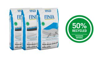 Nytt grönt steg för Finja Betong – byter till förpackningar av återvunnet material