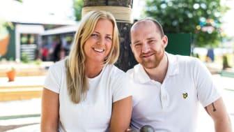Malin Johansson & Emil Axelsson. Fotograf: Alma Vestlund/Studio Emma Svensson