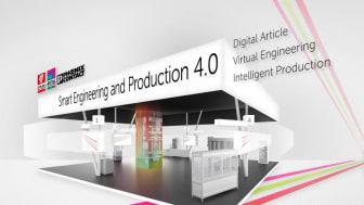 """Teknologinätverket """"Smart Engineering and Production 4.0"""" ger på Hannovermässan 2018 specifika svar på frågan om hur man uppnår end-to-end digitalisering av industriell teknik och processer inom konstruktion och produktion av apparatskåp."""