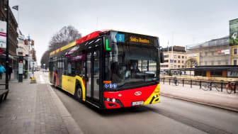 Bussarna på linje 3 i Gävle kommer att laddas av ABB. Foto: Jonas Bilberg