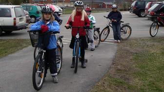 I Piteås deltog 1 150 skolelever i den nationella Gå och cykla till skolan-utmaningen.