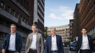 01_from left_Fredrik Logenius (vd Optidev), Marius Drefvelin (CFO Techstep), Jens Haviken (vd Techstep) och Christian Lundin (Optidev)_photo by Marthe Haarstad_small.jpg