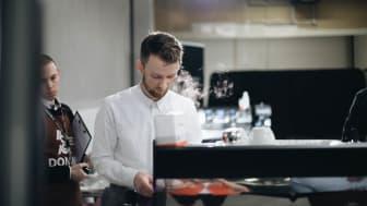 Adrian Berg, norgemester i klassisk barista 2019