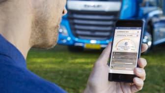 Med den nya DAF Connect-appen hjälper förarna med effektiv bränsleförbrukning och mycket mer.