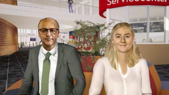Trollhättans stadsdirektör Said Niklund och kårordförande Paulina Samuelsson medverkar, tillsammans med rektor Martin Hellström, på ett lite annorlunda sätt i högskolans nya välkomstfilm.