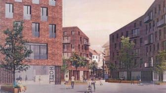 Hillerød får nyt hotel på Markedspladsen i 2019
