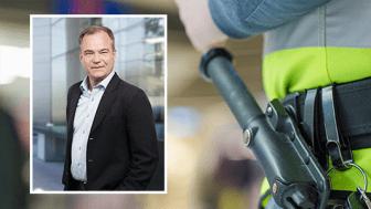 Securitas Sverige-vd Joachim Källsholm välkomnar regerings utredning om ordningsvakter.