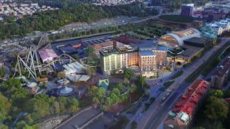 Liseberg's expansion project; Liseberg Grand Curiosa Hotel and Oceana