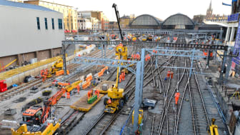 Work continues towards the end of April at King's Cross - picture Network Rail