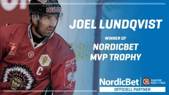 Joel Lundqvist är CHL:s mest värdefulla spelare