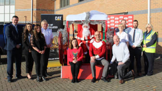 Representatives from Sun FM, Go North East, The Bridges Shopping Centre, Smyths Toys Superstore and Caterpillar