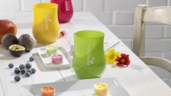 Neu bei dm: Durfkerzen im Windlichtglas und Duftkerzen im Glas mit extra langer Brenndauer