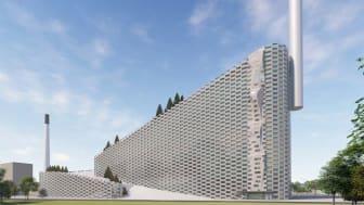 Klätterväggens höjd på 80 meter motsvarar ungefär en skyskrapa på 20–25 våningar. Bild: Walltopia