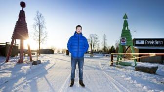 Sebastian Jonsson på Frevisören Camp & Resort. Fotograf: Pär Bäckström