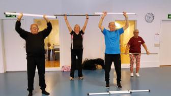 Deltagarna i Senior Sport School får prova olika motionsaktiviteter.