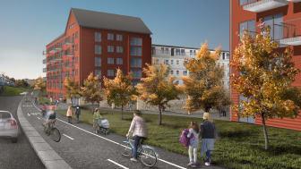Hyresgästerna är en viktig del i utvecklingen av bostadskvarteren - både det befintliga och det nya som adderas.