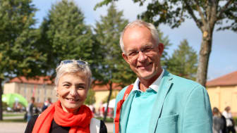 Ileana Greca från spanska Burgos och Andreas Redfrps från Högskolan Kristianstad.