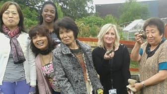 Regeneration Manager for ng homes Margaret Fraser joined residents for their potato harvest
