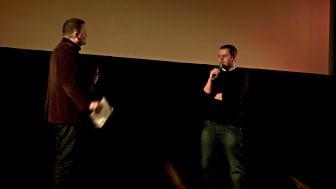 Roger Wilson i samtal med regissören Corneliu Porumboiu (Rumänska filmdagar 4 SPELETS REGLER, 4 - 7 mars 2010, Bio Rio)