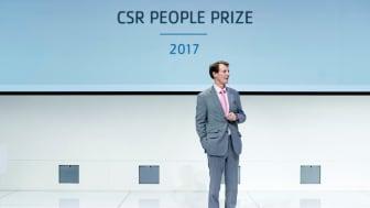 H.K.H. Prins Joachim uddeler CSR People Prize til socialt ansvarlige virksomheder