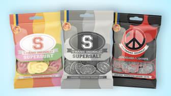Candy Peoples S-märke och Peacemärke tillverkas av Jämtgott.