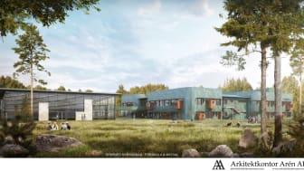 Ny förskola och matsal på Örkenedskolan. Illustration: Arkitektkontor Arén AB