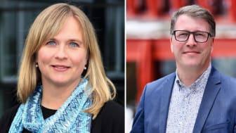 Monika Sammelin, områdeschef för LKAB i Malmberget och Roger Hansson, vd Gällivare Näringsliv AB.