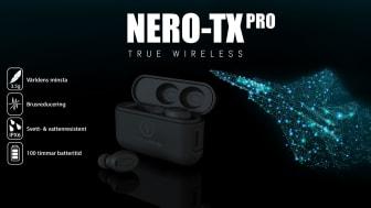 NERO-TX PRO – Världens minsta med en vikt på endast 3.5 gram och en total speltid på +100 timmar.