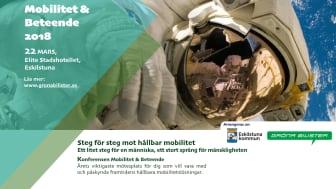 Fullspäckat program inför Mobilitet och Beteende i Eskilstuna den 22 mars