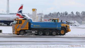 Snöröjning på Arlanda och Bromma