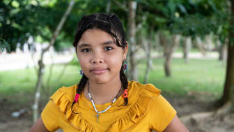 Adriana, som egentligen heter något annat, har flytt från Venezuela till Colombia. Adriana har inte blivit intervjuad i rapporten. Fotograf: Mats Lignell.