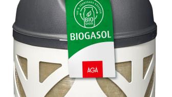 AGA biogasol reducerar CO2 utsläppen med 70%-90% inklusive transport jämfört med vanlig gasol.