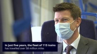 Class 700 Thameslink train five year anniversary