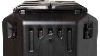 Kompostbehållare 350 ltr svart