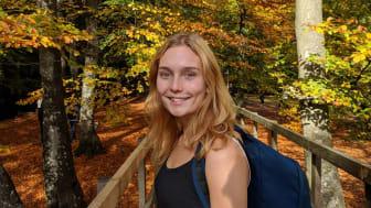 Linnea Gustafsson, 25 år från Hofterup, fick 23 650 kr i stipendium förra året.
