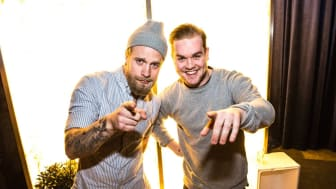 Karl Ljungblad och Linus Morgan.  Foto: Finest.se, fotograf Ossian Langenborg.