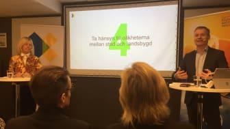 Ingrid Bonde, Ordförande och Johan Kuylenstierna, Vice ordförande, Klimatpolitiska rådet presenterade rådets första rapport.